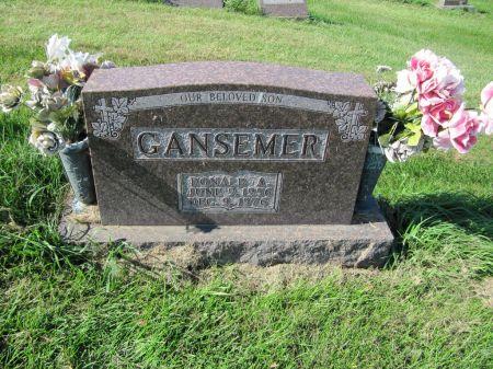 GANSEMER, DONALD A. - Dubuque County, Iowa   DONALD A. GANSEMER