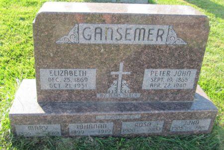 GANSEMER, ELIZABETH - Dubuque County, Iowa | ELIZABETH GANSEMER