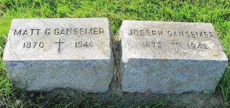 GANSEMER, JOSEPH - Dubuque County, Iowa   JOSEPH GANSEMER