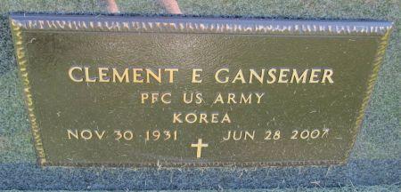 GANSEMER, PFC CLEMENT E. - Dubuque County, Iowa   PFC CLEMENT E. GANSEMER
