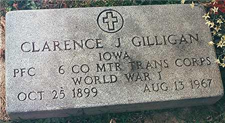 GILLIGAN, CLARENCE J. - Dubuque County, Iowa | CLARENCE J. GILLIGAN