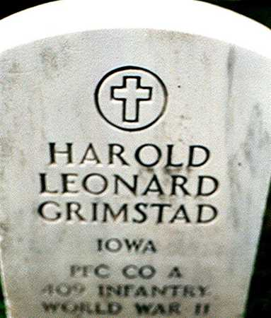 GRIMSTAD, HAROLD LEONARD - Dubuque County, Iowa | HAROLD LEONARD GRIMSTAD