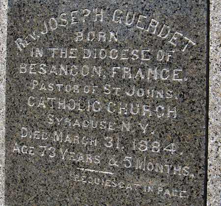 GUERDET, REV. JOSEPH - Dubuque County, Iowa   REV. JOSEPH GUERDET