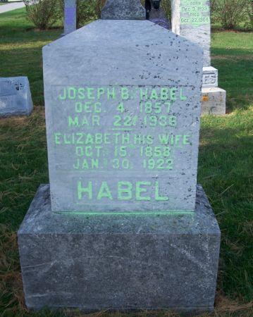 HABEL, ELIZABETH - Dubuque County, Iowa   ELIZABETH HABEL