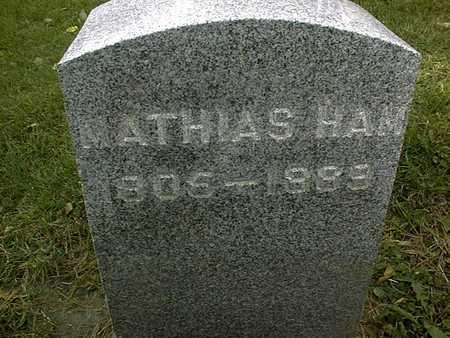 HAM, MATHIAS - Dubuque County, Iowa   MATHIAS HAM