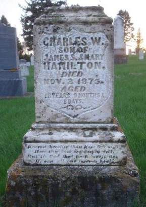 HAMILTON., CHARLES W. - Dubuque County, Iowa | CHARLES W. HAMILTON.