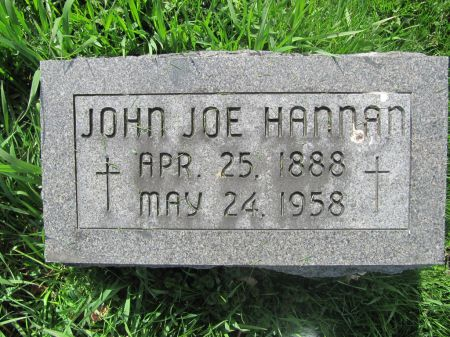 HANNAN, JOHN JOE - Dubuque County, Iowa | JOHN JOE HANNAN
