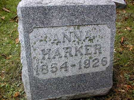 HARKER, ANNA - Dubuque County, Iowa | ANNA HARKER