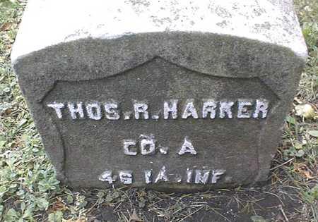HARKER, THOS. R. - Dubuque County, Iowa | THOS. R. HARKER