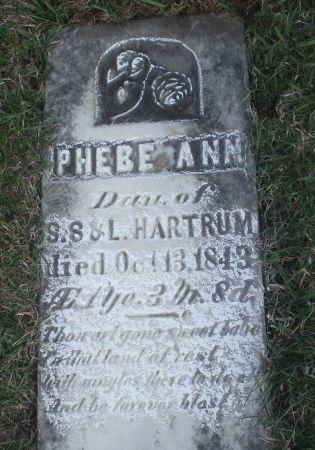HARTRUM, PHEBE ANN - Dubuque County, Iowa | PHEBE ANN HARTRUM