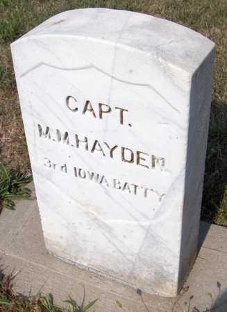 HAYDEN, M. M. - Dubuque County, Iowa   M. M. HAYDEN