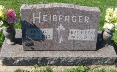 HEIBERGER, BEN G. - Dubuque County, Iowa   BEN G. HEIBERGER