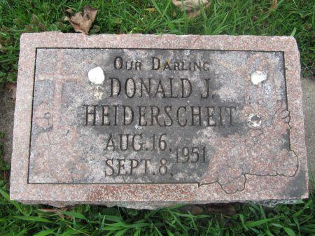HEIDERSCHEIT, DONALD J. - Dubuque County, Iowa | DONALD J. HEIDERSCHEIT