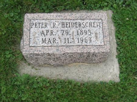 HEIDERSCHEIT, PETER R. - Dubuque County, Iowa   PETER R. HEIDERSCHEIT