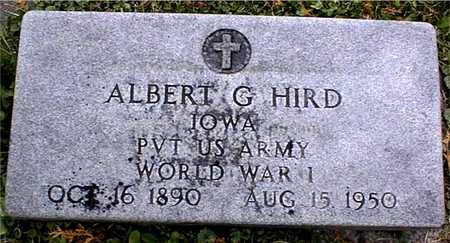 HIRD, ALBERT G. - Dubuque County, Iowa | ALBERT G. HIRD