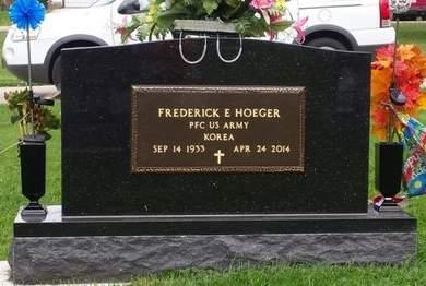 HOEGER, PFC FREDERICK E. - Dubuque County, Iowa   PFC FREDERICK E. HOEGER