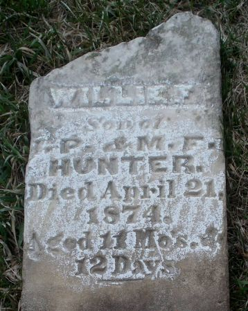 HUNTER, WILLIE F. - Dubuque County, Iowa | WILLIE F. HUNTER