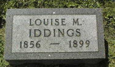 IDDINGS, LOUISE M. - Dubuque County, Iowa | LOUISE M. IDDINGS