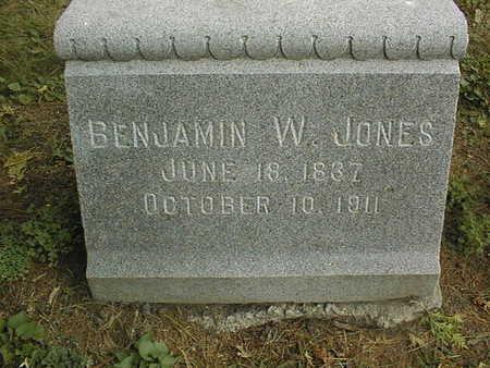 JONES, BENJAMIN W. - Dubuque County, Iowa | BENJAMIN W. JONES
