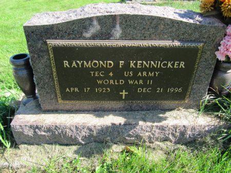 KENNICKER, TEC4 RAYMOND F. - Dubuque County, Iowa   TEC4 RAYMOND F. KENNICKER