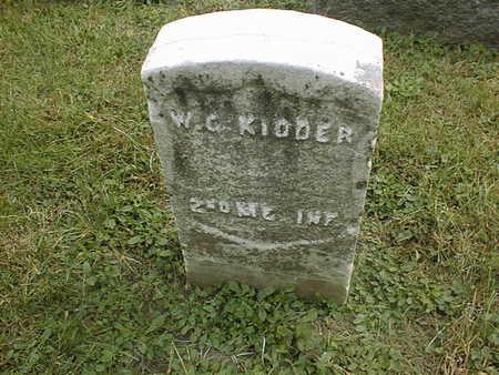 KIDDER, W.C. - Dubuque County, Iowa | W.C. KIDDER
