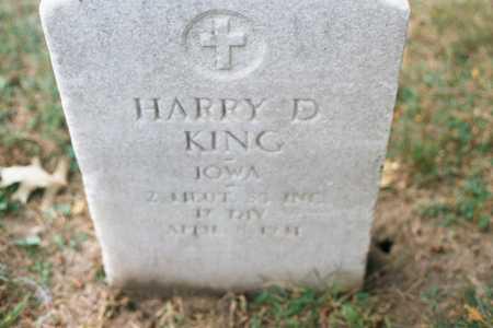 KING, HARRY D. - Dubuque County, Iowa | HARRY D. KING