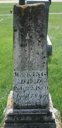 KING, WILLIAM T. - Dubuque County, Iowa   WILLIAM T. KING