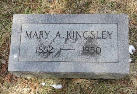 KINGSLEY, MARY A. - Dubuque County, Iowa   MARY A. KINGSLEY