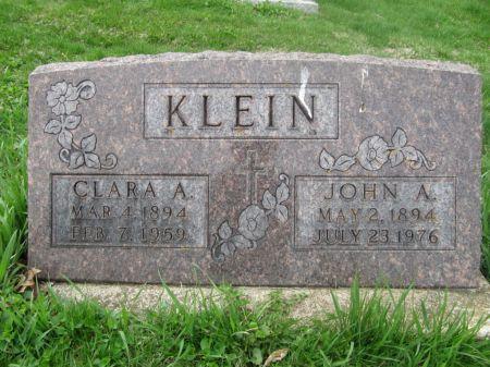KLEIN, CLARA A. - Dubuque County, Iowa | CLARA A. KLEIN