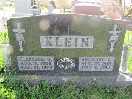 KLEIN, ANGELINE E. - Dubuque County, Iowa   ANGELINE E. KLEIN