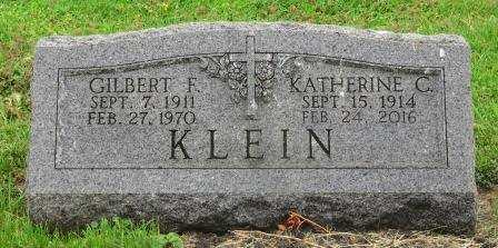 KLEIN, GILBERT F. - Dubuque County, Iowa | GILBERT F. KLEIN