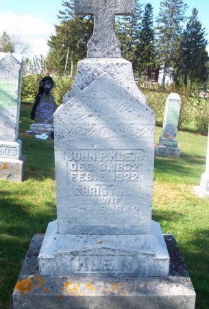 KLEIN, JOHN P. - Dubuque County, Iowa | JOHN P. KLEIN