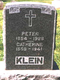 KLEIN, PETER - Dubuque County, Iowa | PETER KLEIN