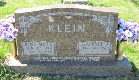 KLEIN, ROSE MARIE - Dubuque County, Iowa   ROSE MARIE KLEIN