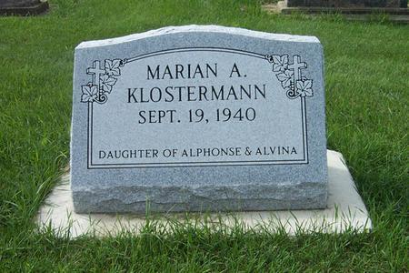 KLOSTERMANN, MARIAN A. - Dubuque County, Iowa | MARIAN A. KLOSTERMANN