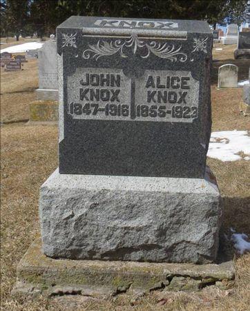 KNOX, ALICE - Dubuque County, Iowa | ALICE KNOX