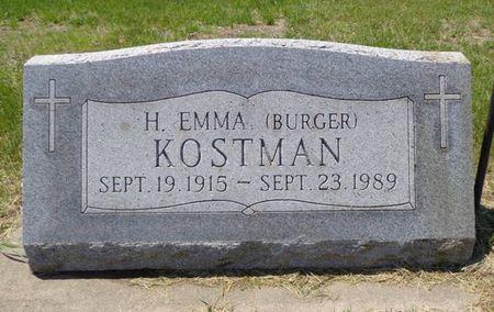 KOSTMAN, H. EMMA - Dubuque County, Iowa | H. EMMA KOSTMAN