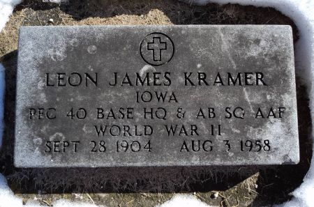 KRAMER, LEON JAMES - Dubuque County, Iowa | LEON JAMES KRAMER