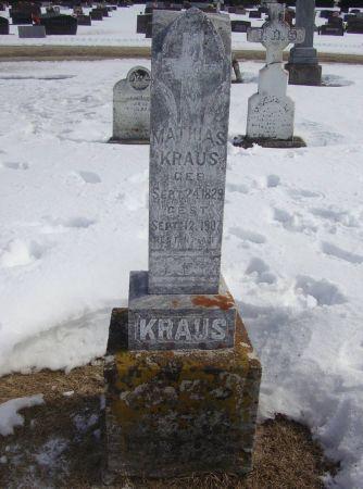 KRAUS, MATHAIS - Dubuque County, Iowa | MATHAIS KRAUS