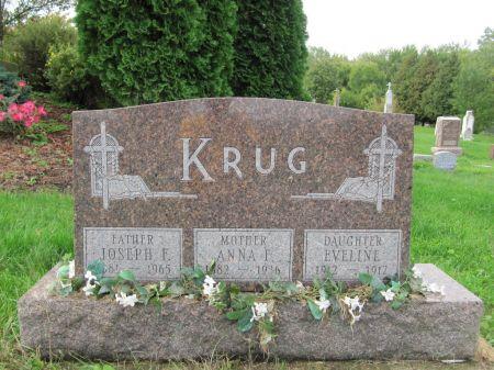 KRUG, ANNA F. - Dubuque County, Iowa   ANNA F. KRUG