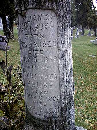 KRUSE, WILLIAM AND DOROTHEA - Dubuque County, Iowa | WILLIAM AND DOROTHEA KRUSE