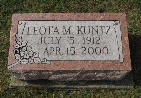 KUNTZ, LEOTA MAXINE - Dubuque County, Iowa | LEOTA MAXINE KUNTZ