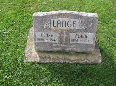 LANGE, ALVINA - Dubuque County, Iowa   ALVINA LANGE