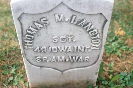 LANGTON, THOMAS M. - Dubuque County, Iowa   THOMAS M. LANGTON