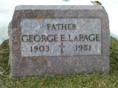 LA PAGE, GEORGE E. - Dubuque County, Iowa   GEORGE E. LA PAGE