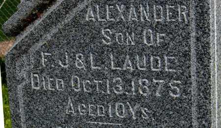LAUDE, ALEXANDER - Dubuque County, Iowa | ALEXANDER LAUDE