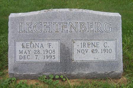 LECHTENBERG, LEONA F. - Dubuque County, Iowa | LEONA F. LECHTENBERG