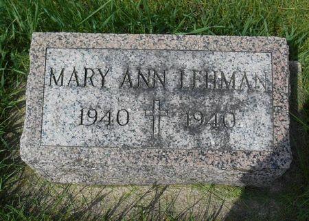LEHMAN, MARY ANN - Dubuque County, Iowa | MARY ANN LEHMAN