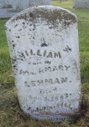 LEHMAN, WILLIAM W.  - Dubuque County, Iowa   WILLIAM W.  LEHMAN