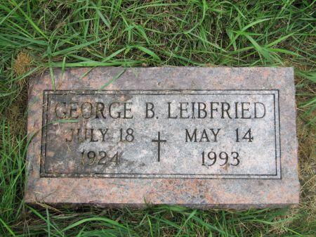 LEIBFRIED, GEORGE B. - Dubuque County, Iowa   GEORGE B. LEIBFRIED